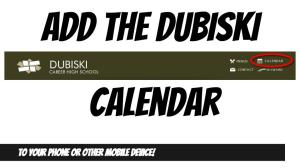 Add the Dubiski Calendar to Your Phone